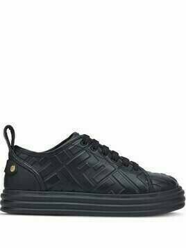 Fendi FF embossed sneakers - Black