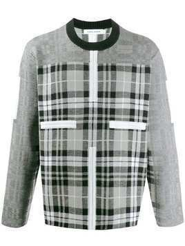 Craig Green Birdseye checked panel jumper - Grey