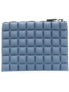 No Ka' Oi chocolate bar quilted purse - Blue
