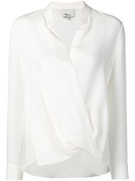 #Mumofsix relaxed wrap blouse - White