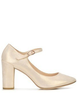 Repetto block heel pumps - White