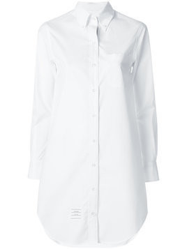 Thom Browne elongated button-down shirt - White