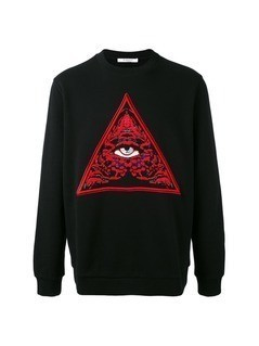 Givenchy eye print jumper - Black