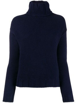 Aragona turtleneck knit jumper - Blue