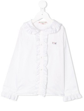 Bonpoint ruffled trim blouse - White