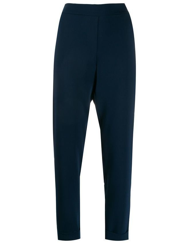 P.A.R.O.S.H. elasticated slim-fit trousers - Blue