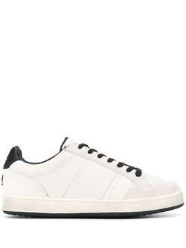 Moa Master Of Arts crown embroidered sneakers - White