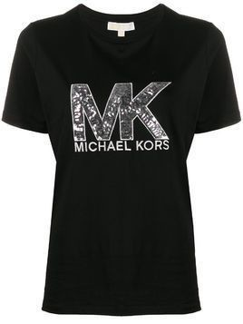 Michael Michael Kors sequin logo T-shirt - Black