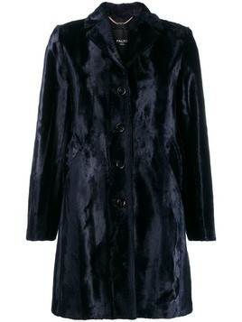 Paltò textured shearling coat - Blue