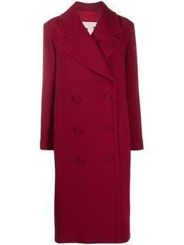 L'Autre Chose straight-fit coat - Red