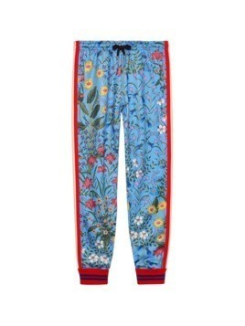 Gucci New Flora technical jersey trousers - Blue