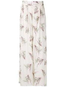 Clube Bossa printed palazzo trousers - White