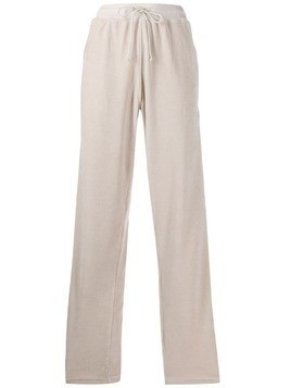 Haider Ackermann side-stripe velour joggers - Neutrals