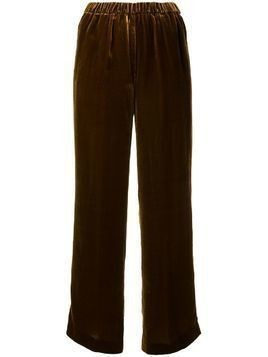 Aspesi wide-leg velvet trousers - Brown