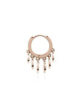Jacquie Aiche 14kt rose gold mini Disco Shaker hoop earring
