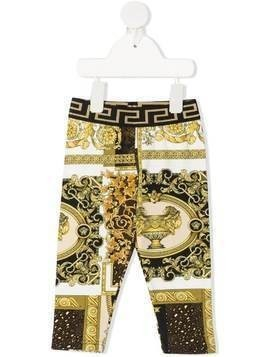 Young Versace Barocco-print trousers - White
