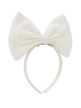 Hucklebones London giant bow hairband - Nude & Neutrals