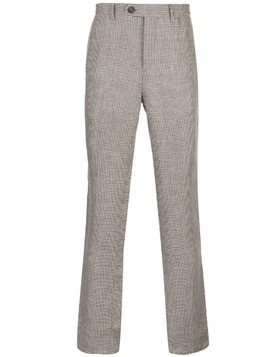 Brunello Cucinelli houndstooth trousers - Brown