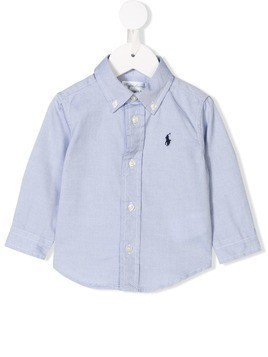 Ralph Lauren Kids button-down shirt - Blue