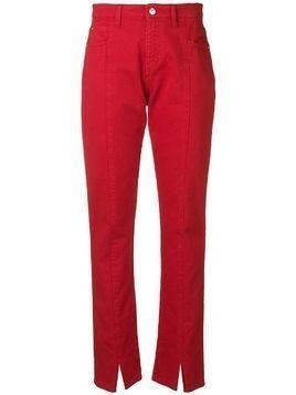 MSGM slit trousers - Red