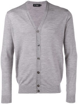 Hackett long-sleeve fitted cardigan - Grey