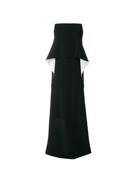 Givenchy top detail evening dress - Black