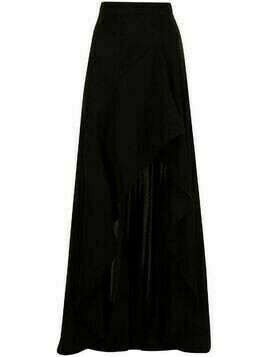 Elie Saab front-slit high-waisted skirt - Black