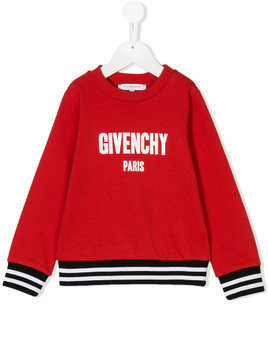Givenchy Kids logo print sweatshirt - Red
