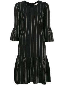 Michael Michael Kors striped flared dress - Black