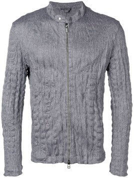 Issey Miyake Men zipped fitted jacket - Grey
