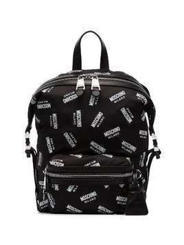 Moschino All Over Logo Backpack - Black