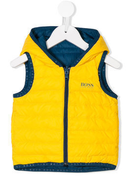 Boss Kids reversible padded gilet - Yellow & Orange
