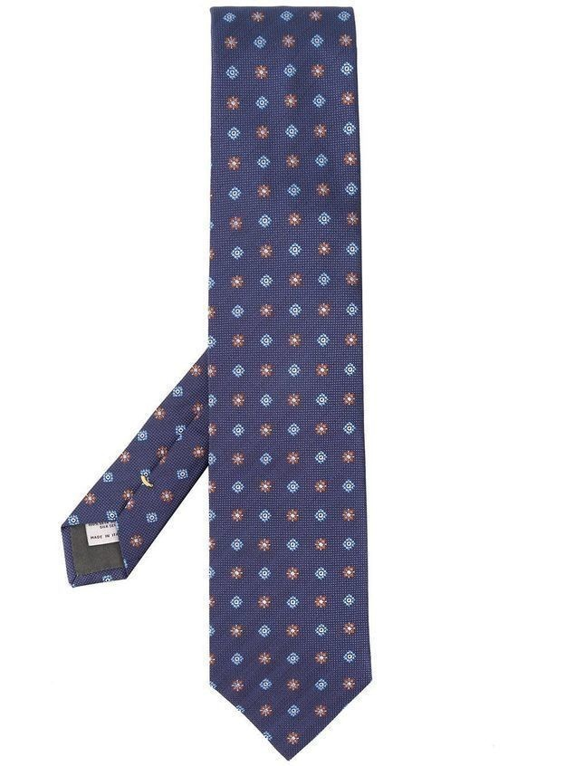 Canali floral pattern tie - Blue