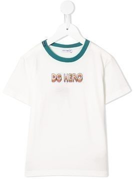 Dolce & Gabbana Kids hero print T-shirt - White