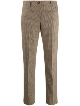 Trussardi Jeans houndstooth slim-fit trousers - Brown