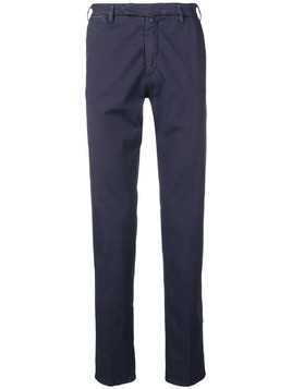 Borrelli mid rise chino trousers - Blue