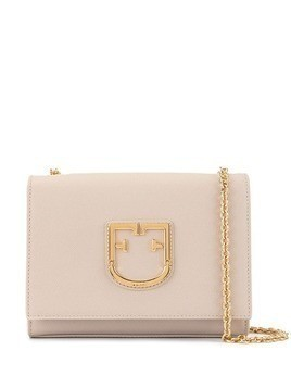 Furla logo plaque crossbody bag - Pink
