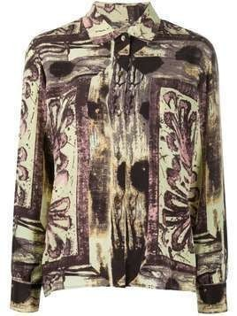 Jean Paul Gaultier Pre-Owned 1991 abstract print shirt - PURPLE