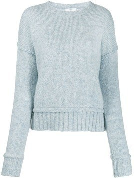 Allude contrast knit sweater - Blue
