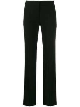 Blanca high-rise satin-panel trousers - Black