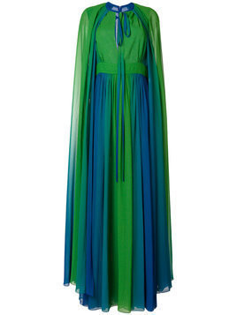 Elie Saab long cape sleeve gown - Green