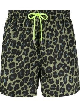 Paul Smith leopard print shorts - Yellow