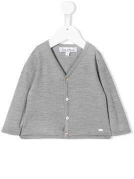 Tartine Et Chocolat V-neck wool cardigan - Grey