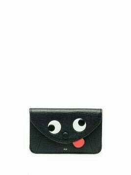 Anya Hindmarch graphic-print leather purse - Black