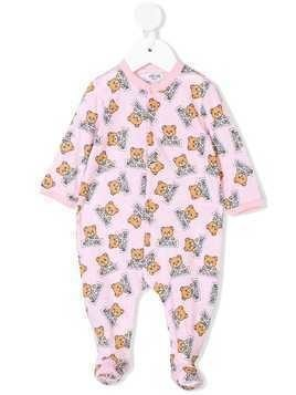 Moschino Kids teddy bear print pajama set - Pink & Purple