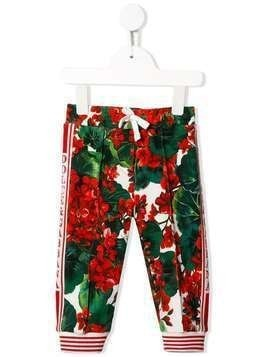 Dolce & Gabbana Kids floral print track pants - Red
