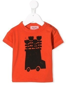 Bobo Choses flower bus T-shirt - Orange
