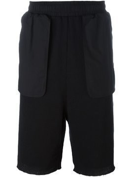 Damir Doma oversized pocket ribbed shorts - Black