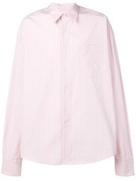 Ami Alexandre Mattiussi Oversize Long Sleeve Shirt With Chest Pocket - Pink