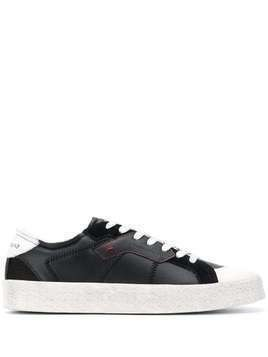 Moa Master Of Arts panelled low top sneakers - Black